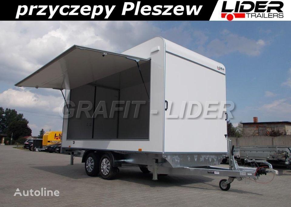 جديد العربات المقطورة شاحنة مقفلة LIDER trailers TP-059 przyczepa 420x200x210cm, kontener, furgon izolow
