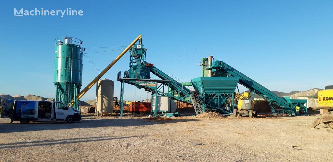 جديد ماكينة صناعة الخرسانة CONSTMACH MOBILE CONCRETE PLANT, BOTH WET AND DRY CONCRETE IS POSSIBLE TO