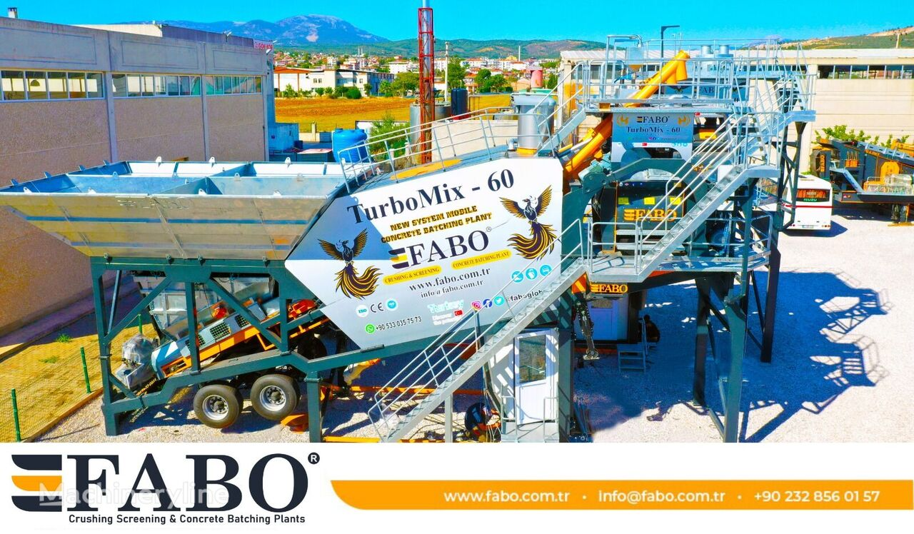 جديد ماكينة صناعة الخرسانة FABO TURBOMIX-60 MOBILE CONCRETE MIXING PLANT