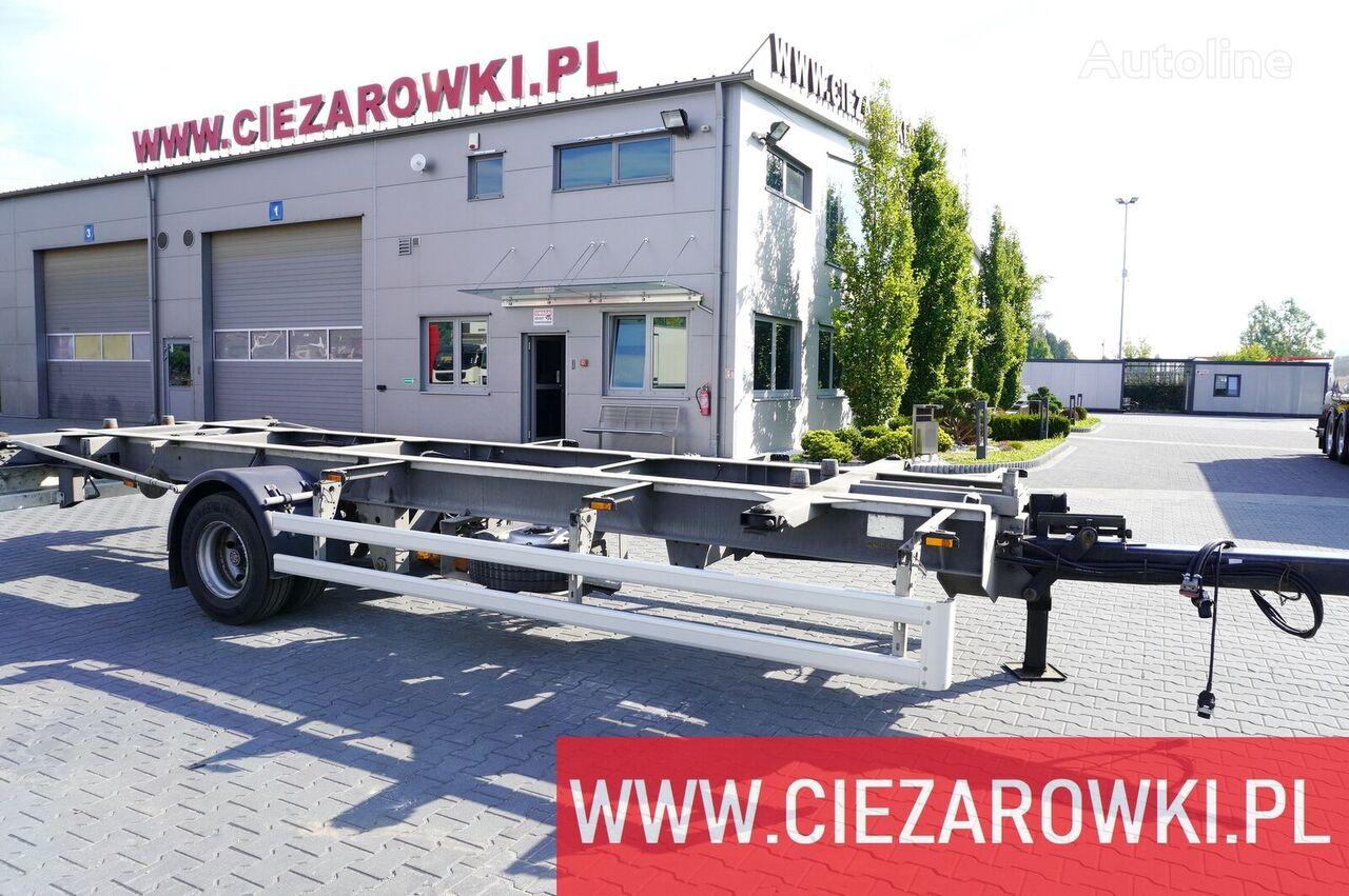 العربات المقطورة شاحنة نقل الحاويات ACKERMANN Z-EAF 11/7 , BDF , chassis 7,2m , air suspension , BPW , 2 units