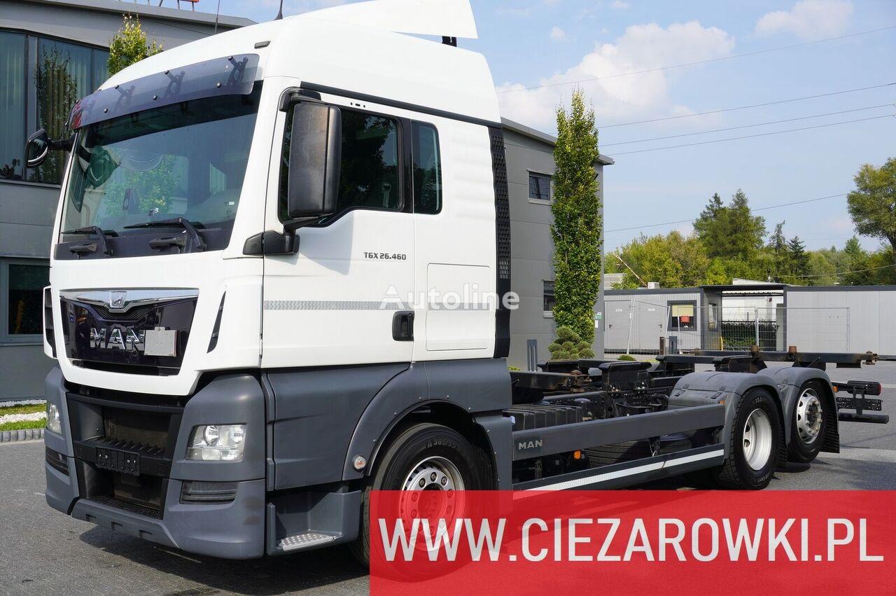 شاحنة نقل الحاويات MAN TGX 26.460 , XLX , E6 , 6x2 , BDF , standard , chassis 7,1m , re