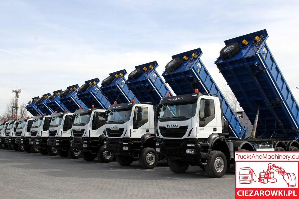 شاحنة قلابة IVECO 8x8 / e6 / TRAKKER  / retarder / hydraul. board sides / / ful