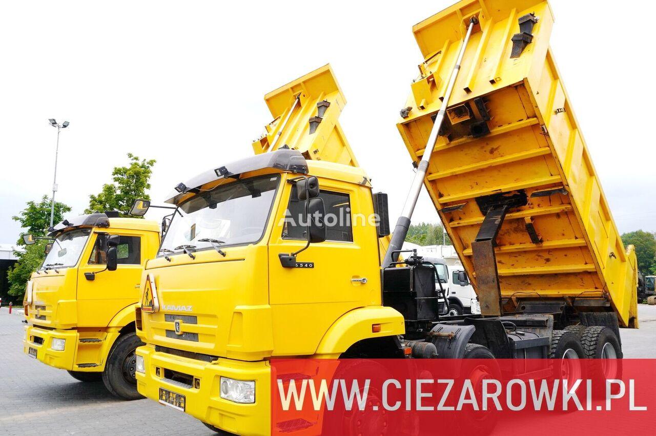 شاحنة قلابة KAMAZ 6540 , 8x4 , 20.000km mileage , backside tipper , manual , like