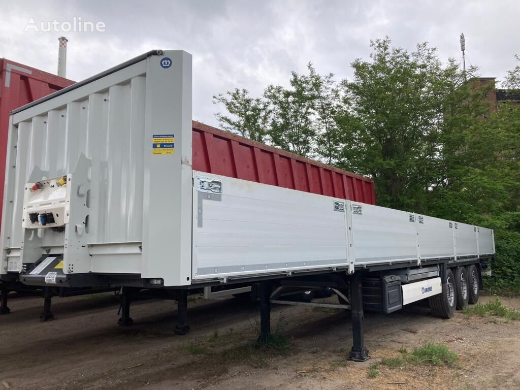 العربات نصف المقطورة شاحنة مسطحة KRONE SDP 27 building material trailer open as new!