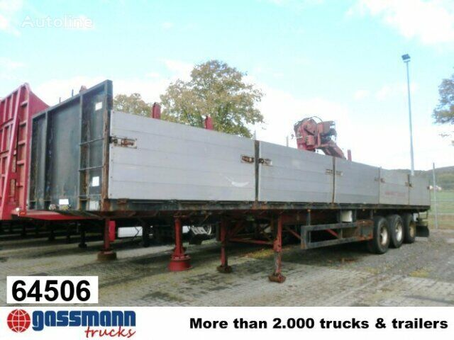 العربات نصف المقطورة شاحنة مسطحة PACTON PACTON (NL) TXD 336 mit Kran