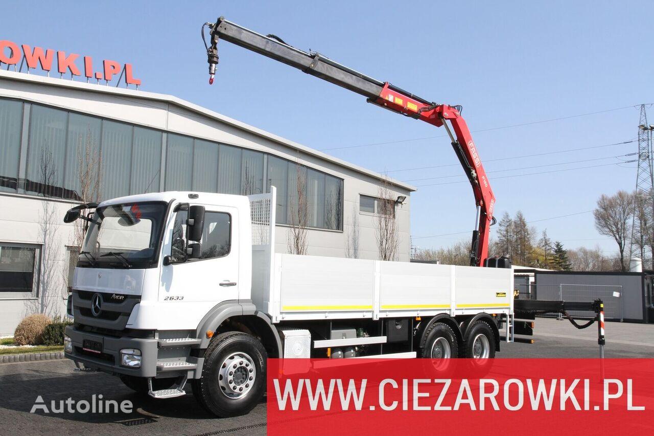 شاحنة مسطحة MERCEDES-BENZ AXOR 2633 HDS FASSI F150A.23 10 M
