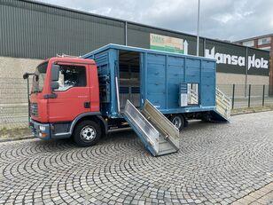 شاحنة نقل المواشي MAN TGL 8.210 BL  Menke , 2 x AHK , TOP,  Tier, Viehtransporter