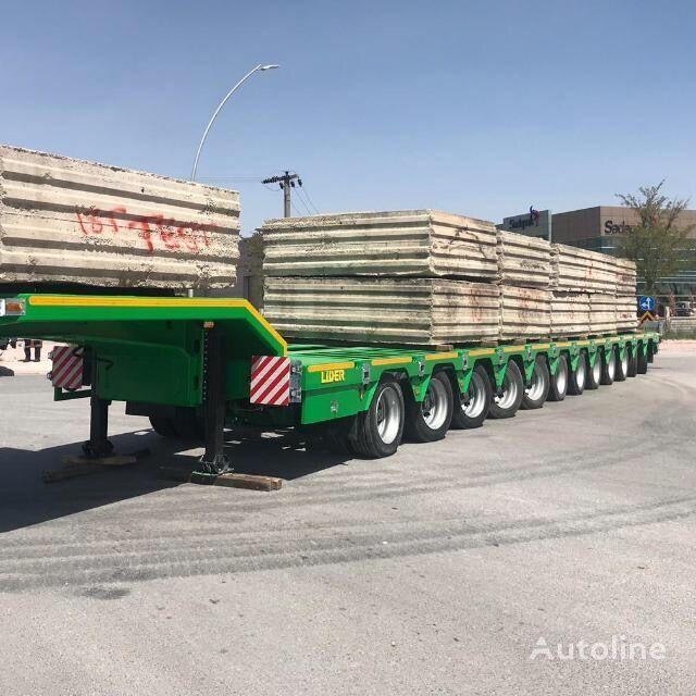 جديدة العربات نصف المقطورة عربة مقطورة مسطحة منخفضة LIDER 2020 Model 200 TONS CAPACITY New Productions Directly From Manuf