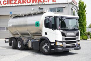 شاحنة نقل الألبان SCANIA P410 , E6 , 6X2 , 20.000km ! ! ! , 2 units , steer/lift axle , 3