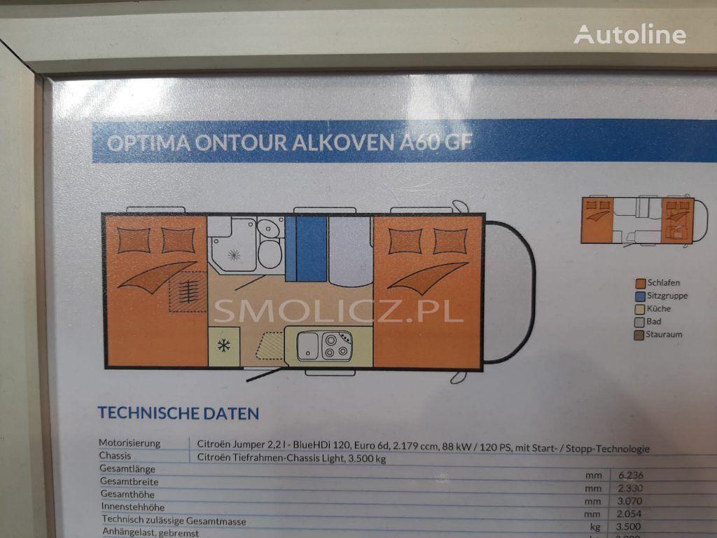 جديد بيت متنقل على عجلات HOBBY OPTIMA ONTOUR ALKOVEN A60 GF