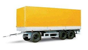 جديد العربات المقطورة صندوق خلفي مغطى MAZ 870100-3010