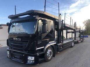 شاحنة نقل السيارات IVECO AT190S,460 E-6,Retarder + Kassbohrer APT003(rozsuwana), 9/10aut, + العربات المقطورة شاحنة نقل السيارات