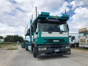 شاحنة نقل السيارات IVECO EUROTECH  bisarca veicoli + biga Rolfo