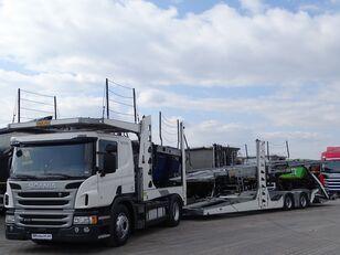 شاحنة نقل السيارات SCANIA P 410 / AUTOTRANSPORTER / ROLFO EGO 4 + ROLFO DYNAMIC 7/ RETARDE + العربات المقطورة شاحنة نقل السيارات