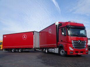 شاحنة ذات أغطية جانبية MERCEDES-BENZ ACTROS 2545 / JUMBO TRUCK - 120 M3 / VEHICULAR / I-COOL / EURO 6 + مقطورة ستارة