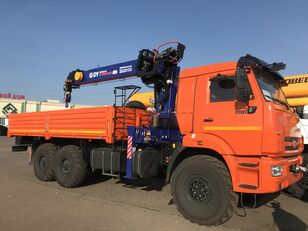 جديدة شاحنة مسطحة KAMAZ 43118 c тросовым КМУ DY (DongYang) SS1956 ACE