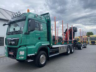 شاحنة نقل الأخشاب MAN TGS 33.500 + العربات المقطورة شاحنة نقل الأخشاب