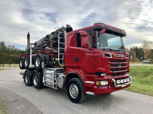 شاحنة نقل الأخشاب SCANIA R 730 V8 6x4 Dzwig LOGLIFT 251S Do Drewna KOMPLET